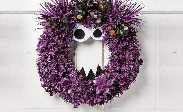 image of monster wreath