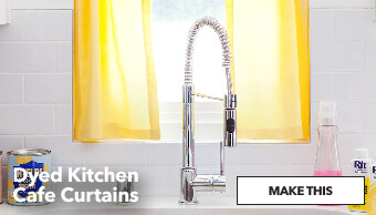 How To Make Dyed Kitchen Café Curtains. Make This.