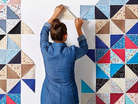 Modern Quilt Hanging.