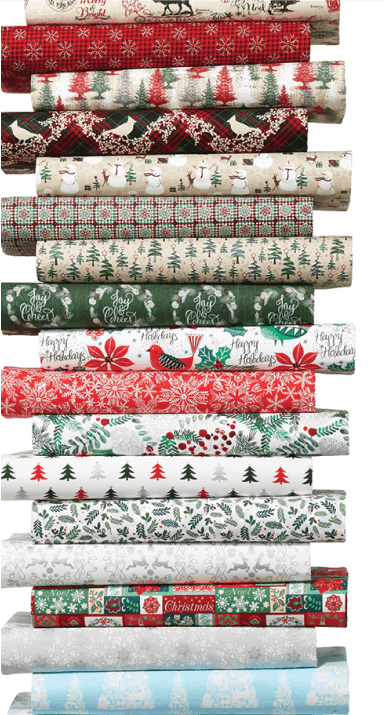 Quilt Shop Christmas Prints.