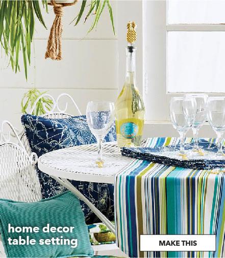 Home decor table setting. Make This.