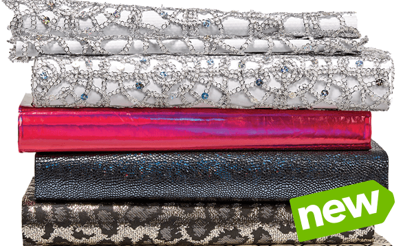 We've added Cosplay fabrics like sequin netting, mirror foil, and holographic material…plus NEW coordinating trims! Buy Now.