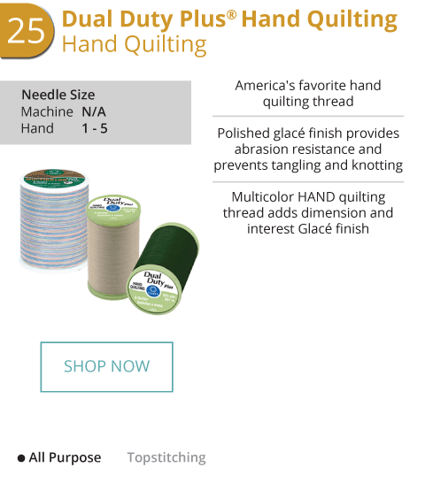 Dual Duty Plus Hand Quilting - Hand Quilting