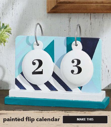 Painted Flip Calendar. Make This.