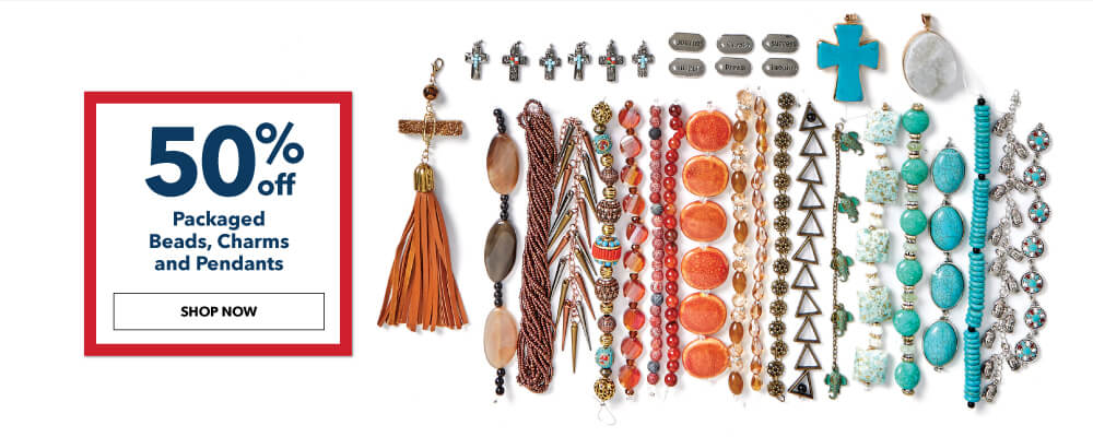 50% off Strung and Packaged Beads, Charms and Pendants. Shop Now.