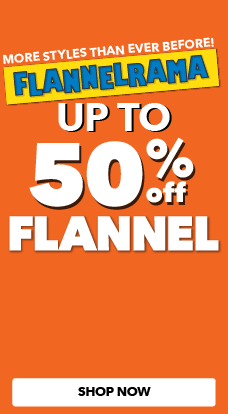Flannelrama - Up to 50% off all flannel in stock, only at JOANN