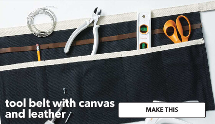 Tool Belt With Canvas and Leather. Make This.