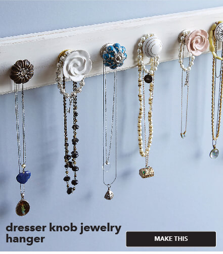 Dresser Knob Jewelry Hanger. Make This.