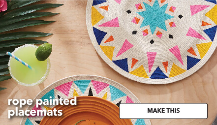Rope Painted Placemats. Make This.