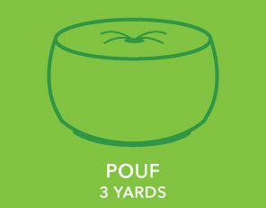 Pouf. 3 Yards.
