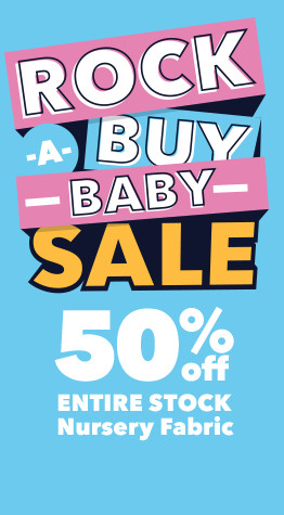 Up to 50% off all Nursery, fleece & flannel fabrics at JOANN