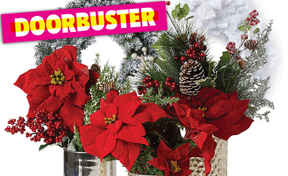Image of Handmade Holiday Wreaths, Floral & Containers