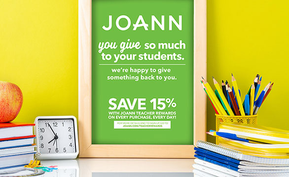 Image of poster calling out teachers savings and rewards.