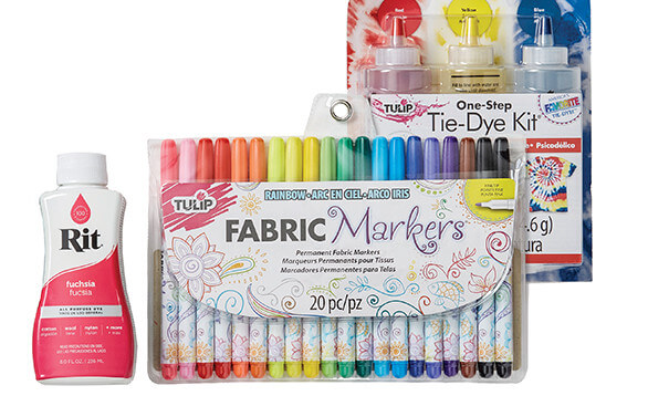 Image of Fabric Paint, Markers and Dyes.