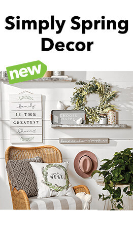 Bring the beauty of the Spring season inside with Simply Spring Home Decor.