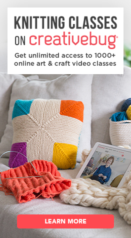Sign up for Knitting Classes with Creativebug.