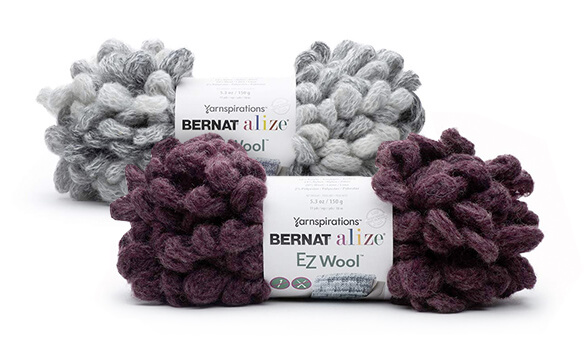 Bernat Alize EZ Wool Yarn is great for finger knitting