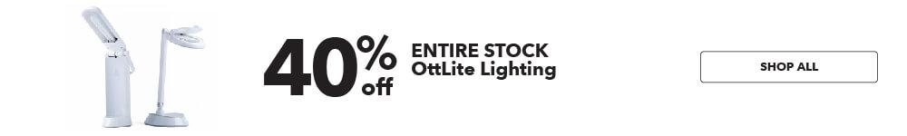 40% off Entire Stock OttLite Lighting. Shop Now.