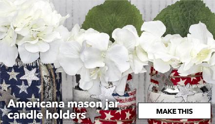 Make Americana Mason Jar Candle Holders. Make This.