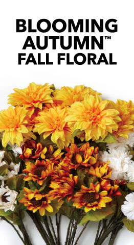 Bring the look & feel of the Fall season indoors with beautiful Autumn flowers, leaves, bushes, leaves & stems from JOANN