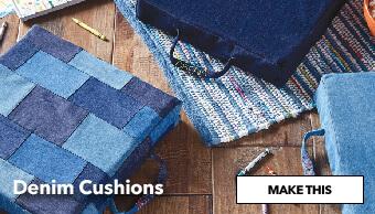 How to Make a Denim Cushion. Make This.