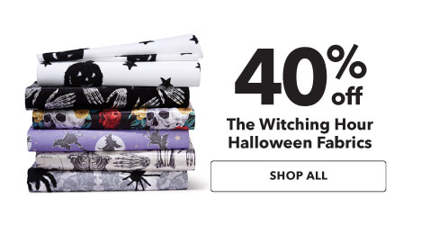 40% off The Witching Hour Halloween Fabrics. Shop Now.