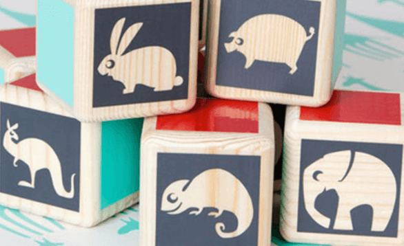 Image of baby animal blocks.