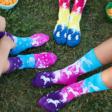 image of tie dye socks