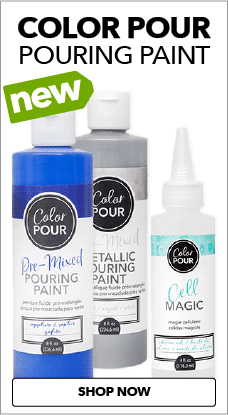 With Color Pour pouring paint & JOANN, you can create beautiful marbleized paintings.