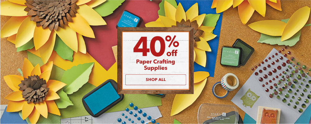 40% off paper crafting supplies. Shop Now.