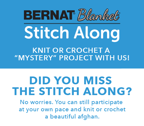 Did you miss the Stitch Along? No worries. You can still participate at your own pace and knit or crochet a beautiful afghan.
