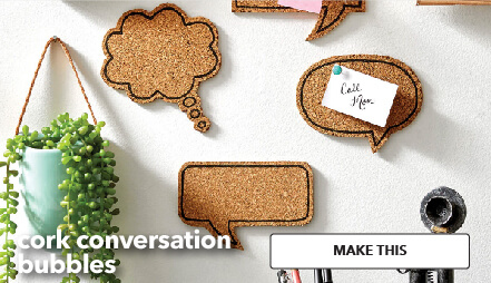 How To Make Cork Conversation Bubbles. Make This.