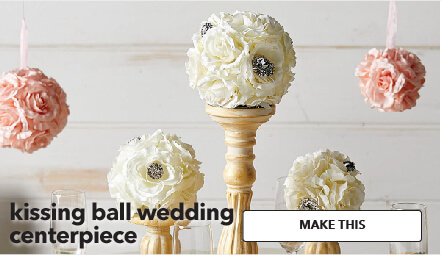 How To Make A Kissing Ball Wedding Centerpiece. Make This.