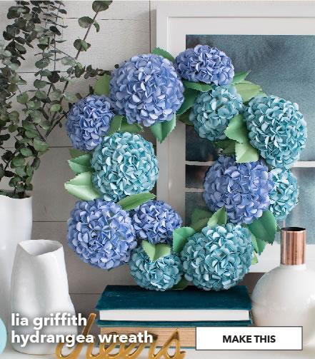 Lia griffith hydrangea wreath. Make This.