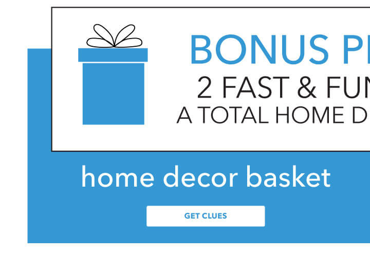 Bonus project! Fast and fun mystery idea for a total home decor makeover. Home Decor Basket.