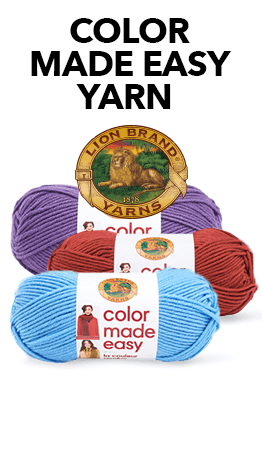 The Lion Brand Color Made Easy Yarn is a sophisticated multi-plied 100% acrylic yarn, and comes in 22 on-trend colors.