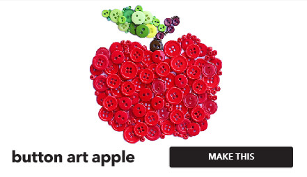 How to make a button art apple. Make This.