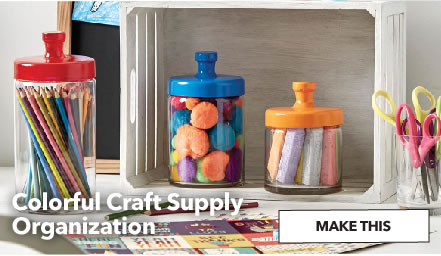Colorful Craft Supply Organization. Make This.