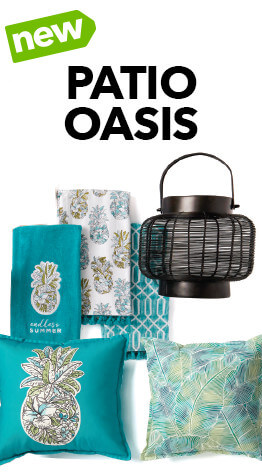 Spend your summer on the front porch with the new Patio Oasis summer decor collection, only at JOANN.