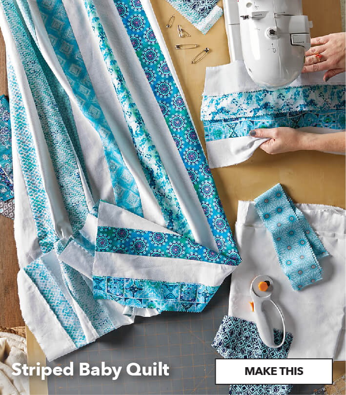 Striped Baby Quilt. Make This.