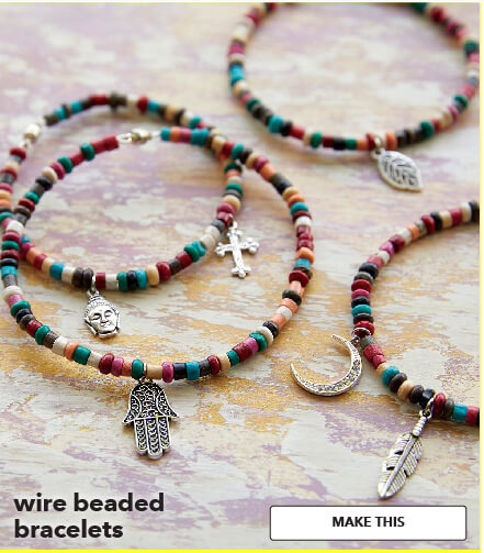 Wire beaded bracelets. Make This.