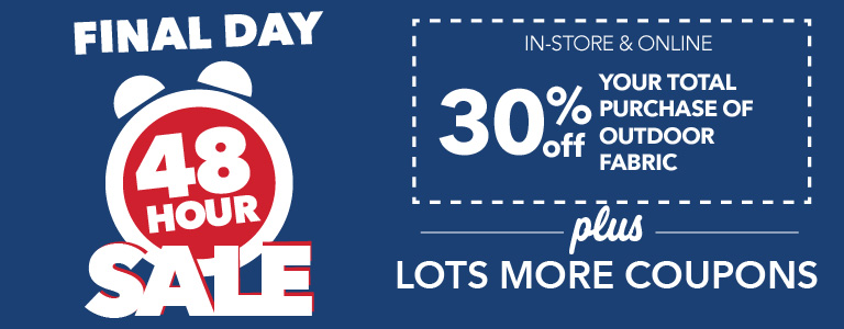 48 Hour Sale Ends TODAY! See all coupons before they end!