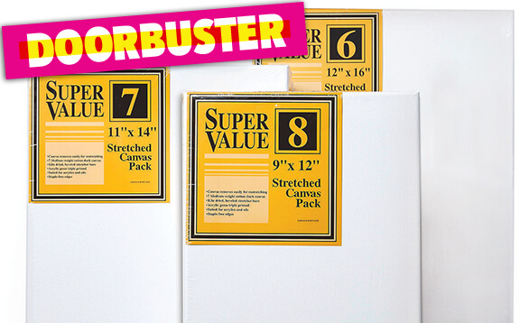 Image of DOORBUSTER! Super Value Canvas Packs.