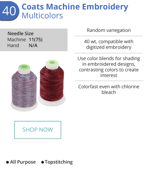 Machine Embroidery - Multicolors