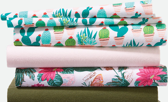 50% off Cozy Flannel Solids & Snuggle Flannel Prints.