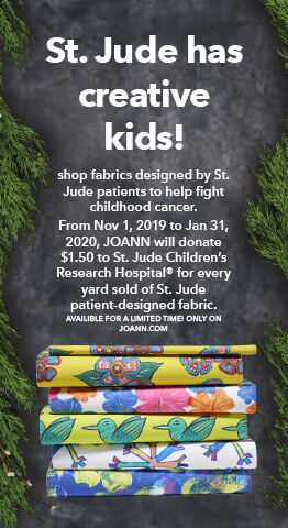 Shop fabrics designed by St. Jude patients to help fight childhood cancer.