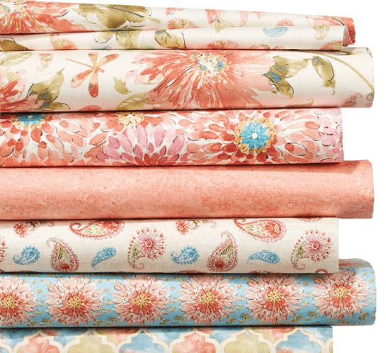 Floral Quilts.