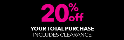 20% off your total purchase!
