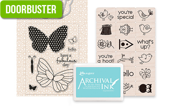 DOORBUSTER! 50% off Entire Stock Stamping