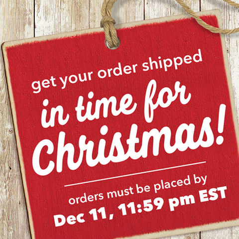 Get Your Order Shipped in time for Christmas! Orders must be placed by Dec. 11, 11:59pm EST.